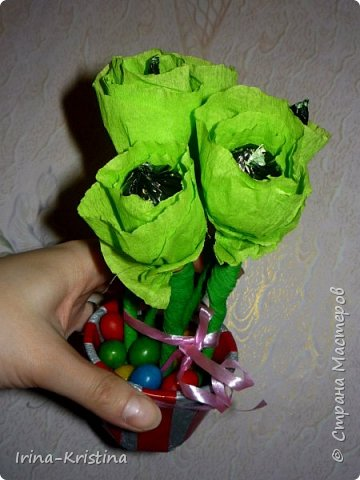 Топиарий с маленькими цветами. фото 3