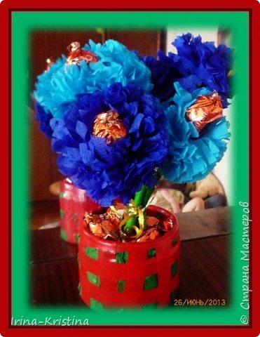 Топиарий с маленькими цветами. фото 4