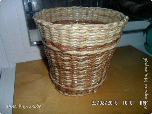 Плетение из бумажной лозы.Начало фото 9