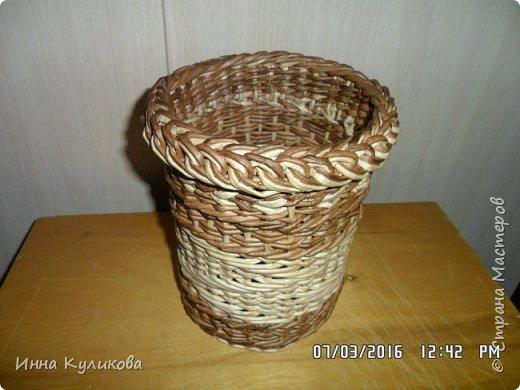 Плетение из бумажной лозы.Начало фото 6