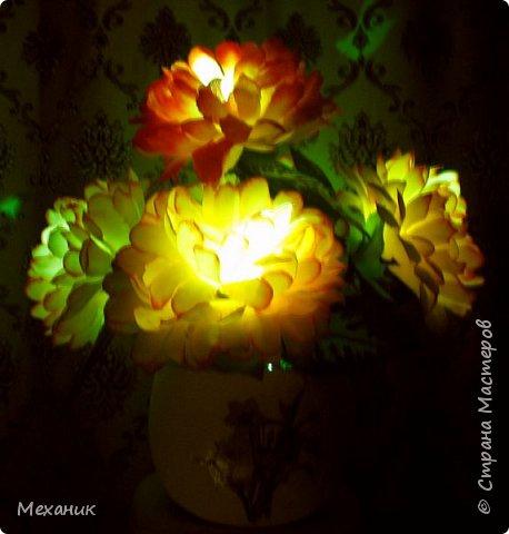 Искусственные  с подсветкой фото 11