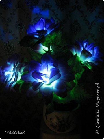 Искусственные  с подсветкой фото 12