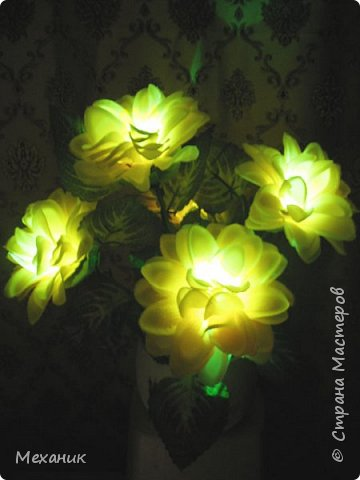 Искусственные  с подсветкой фото 14