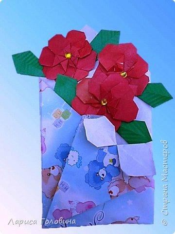 """Букетики мастерили с третьеклассниками. Упаковку мастерили по книге С. Соколовой, а цветы по книге Пудовой и Лежнёвой """"Легенды о цветах""""  фото 3"""