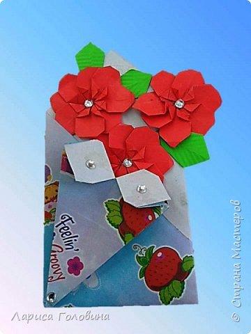 """Букетики мастерили с третьеклассниками. Упаковку мастерили по книге С. Соколовой, а цветы по книге Пудовой и Лежнёвой """"Легенды о цветах""""  фото 8"""