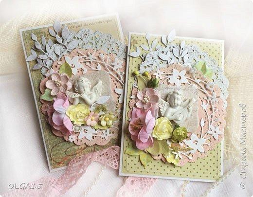 Милые женщины, дорогие рукодельницы, хочу поздравить Вас с праздником  8 марта, пусть он наполнит вашу жизнь любовью, светом,теплом и вдохновением, будьте счастливы! Две открытки в подарок коллегам. фото 1