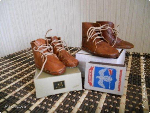 Размерный ряд представлен двумя парами кожаных ботинок фото 1