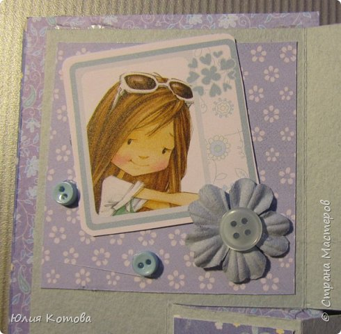 Мини-альбом, поздравительная открытка на день рождение фото 5