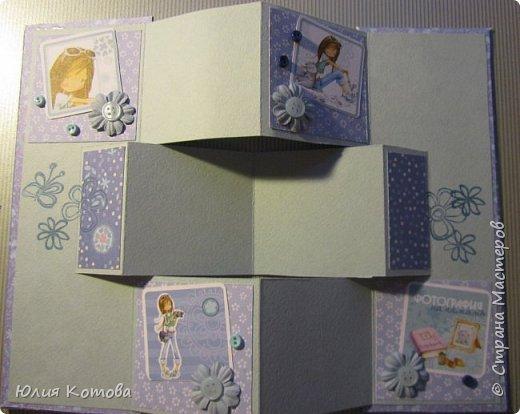 Мини-альбом, поздравительная открытка на день рождение фото 4