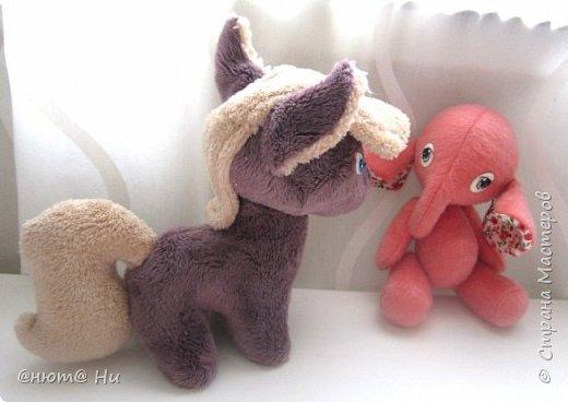 Девочка-слоняшечка родилась в подарок.  Пони по выкройке с зарубежного сайта, там она называется пони-чиби, упрощённый вариант классического пони. фото 6