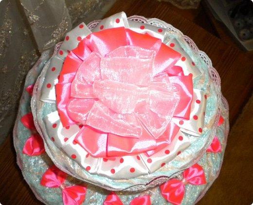 намечались в нашей родне крестины у маленькой Маргаритки. и решилась я на изготовление тортика. жаль только попасть не удалось приболела, подпростыла, побоялась заразить малышку и не поехала. но подарочек передала фото 3
