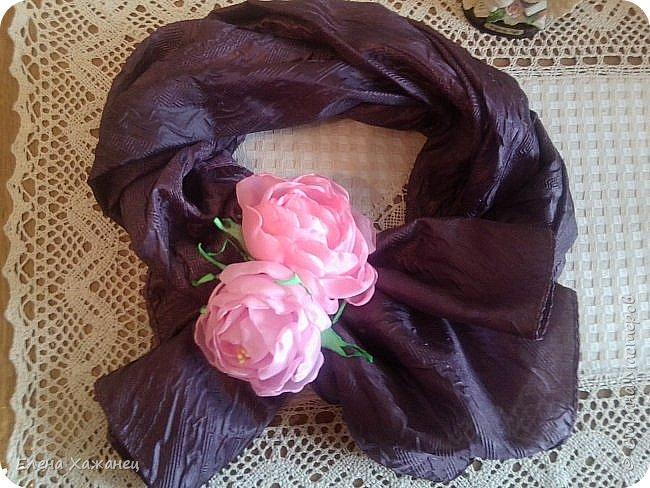 Цветы из атласных лент фото 3