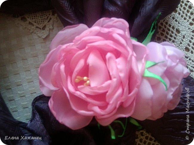 Цветы из атласных лент фото 1