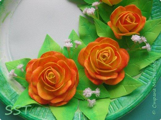 Тарелочки с розами. фото 3