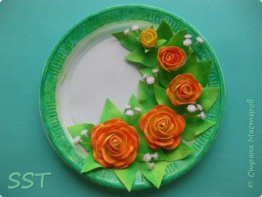 Тарелочки с розами. фото 2
