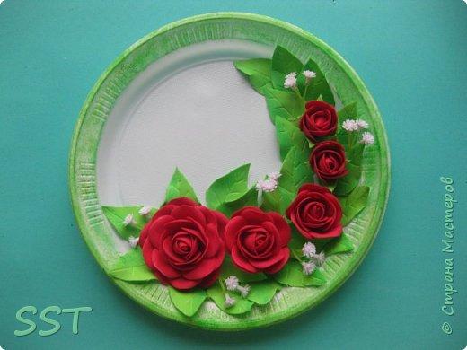 Тарелочки с розами. фото 4