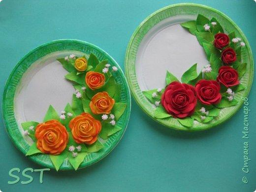 Тарелочки с розами. фото 1