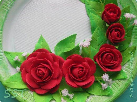 Тарелочки с розами. фото 5