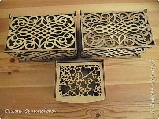 Купила готовые деревянные заготтовки шкатулок и покрыла 2 лаками. фото 1