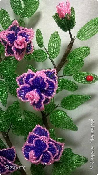 Фиолетовые розочки. Навояла в подарок) фото 8