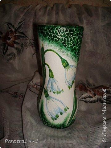 Вот такая ваза получилась из пластиковой 2,5 литровой бутылки... фото 1