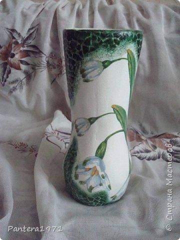 Вот такая ваза получилась из пластиковой 2,5 литровой бутылки... фото 2
