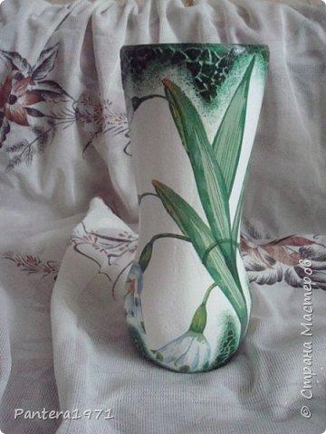 Вот такая ваза получилась из пластиковой 2,5 литровой бутылки... фото 3