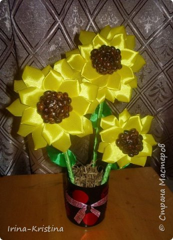Топиарий с маленькими цветами. фото 7