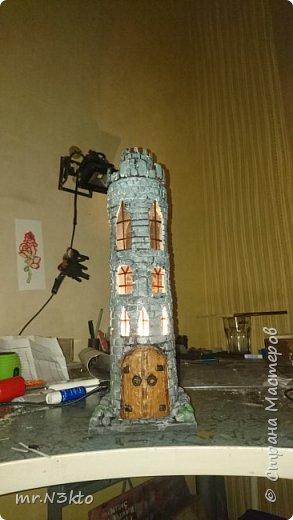 Светильник-ночник из тубуса фото 9