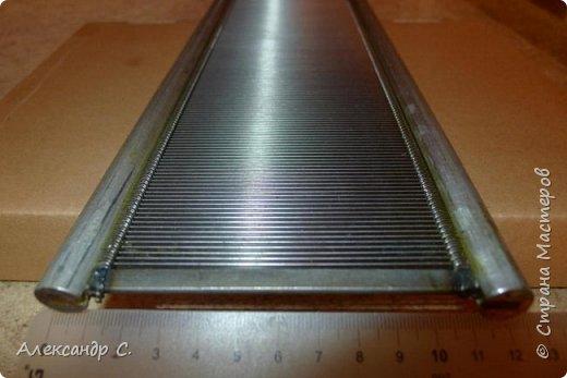 Бердо паяное №50, ширина 102 см, рабочая высота на просвет 9,2 см полная высота 12,5 см  Боковины из алюминия (круглые в сечении), между ними стальные пластинки . Очень прочное. фото 1