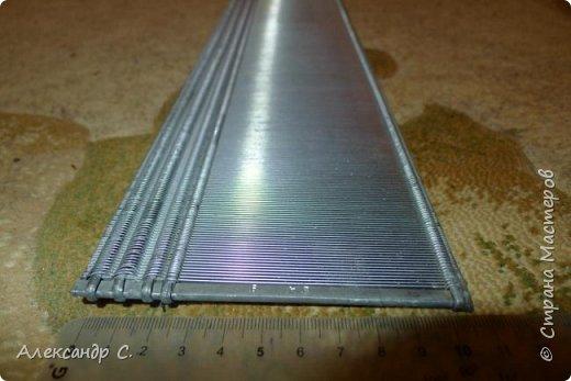 Бердо паяное №50, ширина 102 см, рабочая высота на просвет 9,2 см полная высота 12,5 см  Боковины из алюминия (круглые в сечении), между ними стальные пластинки . Очень прочное. фото 3