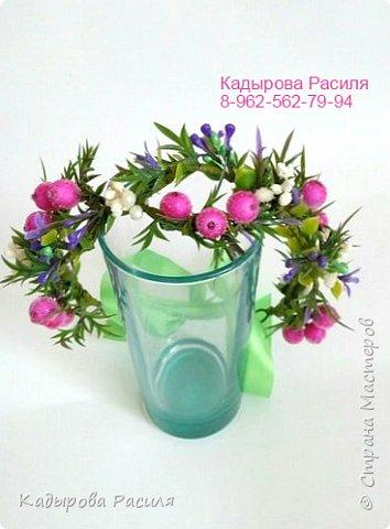 На этот раз весенние веночки и ободочки))) фото 5
