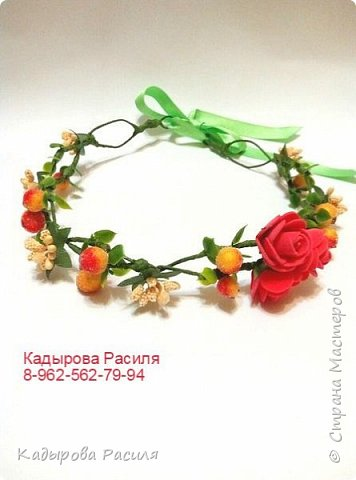 На этот раз весенние веночки и ободочки))) фото 4