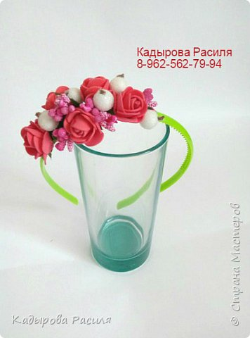 На этот раз весенние веночки и ободочки))) фото 3
