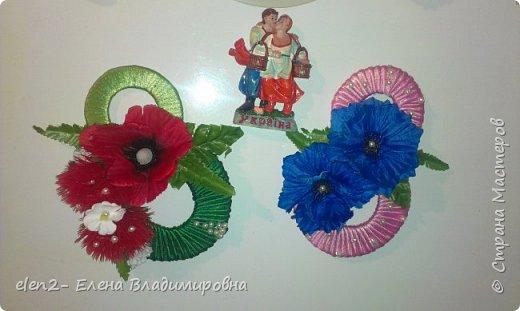 Мои магнитики-подарки  к 8 марта подругам.Сделала немного по-своему. мастер класс увидела в ютубе https://www.youtube.com/watch?v=Tg4zuwjl-MA фото 7