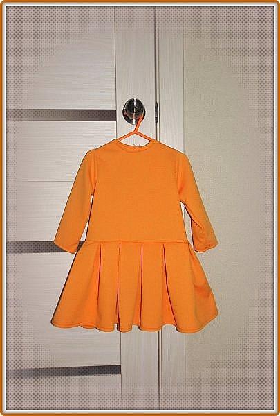 Такое платье сшилось для моей принцессы к 8 Марта. Ткань - трикотаж. Ушло 1 метр. Девочке 2 года. фото 1