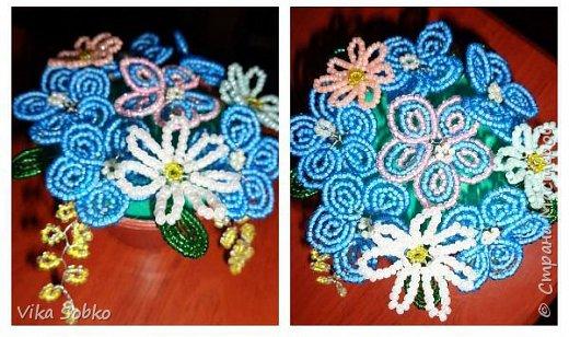 Цветы из бисера фото 8