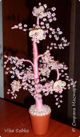Деревья из бисера фото 2