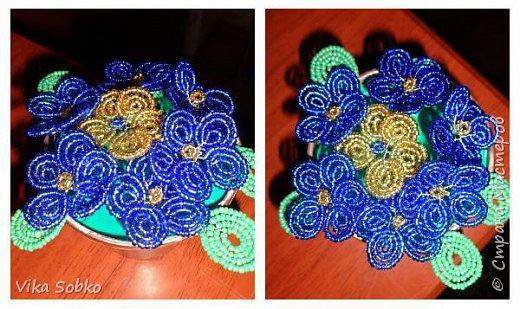 Цветы из бисера фото 1