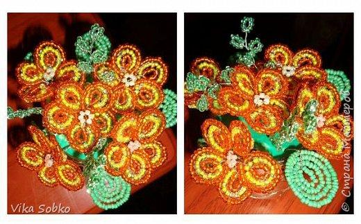 Цветы из бисера фото 10