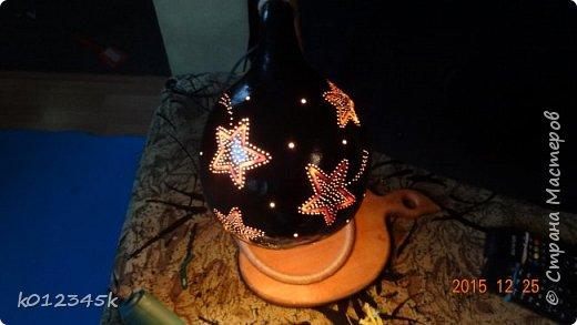 Лампы из бутылочной тыквы. кому интересно больше информации в блоге. фото 12