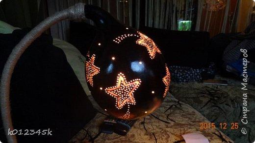 Лампы из бутылочной тыквы. кому интересно больше информации в блоге. фото 13