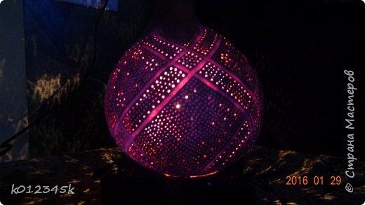 Лампы из бутылочной тыквы. кому интересно больше информации в блоге. фото 24