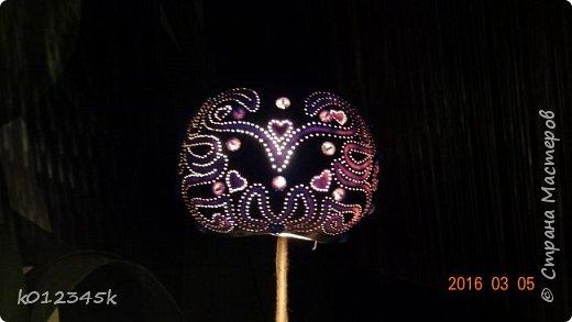 Лампы из бутылочной тыквы. кому интересно больше информации в блоге. фото 7
