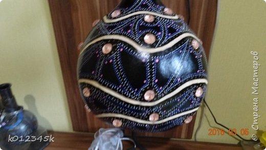 Лампы из бутылочной тыквы. кому интересно больше информации в блоге. фото 5