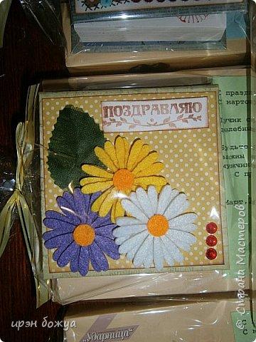 Это заказ мужа для сотрудниц на работе. Для него я сделала блоки для записей в индивидуальной упаковке.Ну и конечно коробка конфет каждой. фото 10
