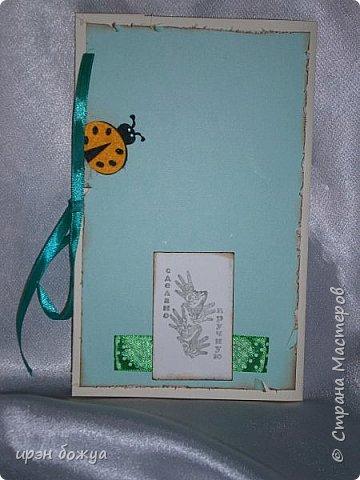 Это открытка родилась спонтанно и сделана была на одном дыхании. В основе восьмерки были использованы две заготовки поздравительных розеток, которые я делала как образец для сестры на день медика. Эти заготовки ей не понравились и я сделала ей другие- разноцветные http://stranamasterov.ru/node/934580 . А эти остались в закромах хомяка. Пока делала подарки для сына и мужа на 8 марта, они попались мне на глаза, причем сами легли в цифру 8. И тут хомяка понесло.... фото 6