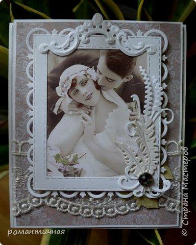 а я снова с открыткой))) весна, наверное, навевает романтику, поэтому и работы получаются в таком стиле))) романтическом... фото 1