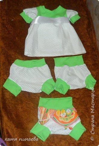 пошились доче на лето вот такие наряды ( примерно на годик) фото 1