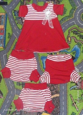 пошились доче на лето вот такие наряды ( примерно на годик) фото 3
